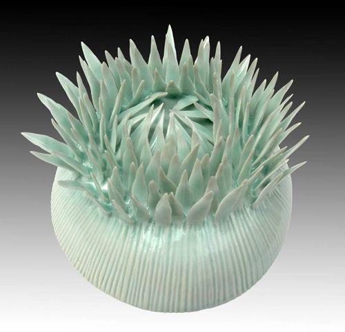Chris Garofalo ~ Aqueous Protea Cynaroides (glazed porcelain)