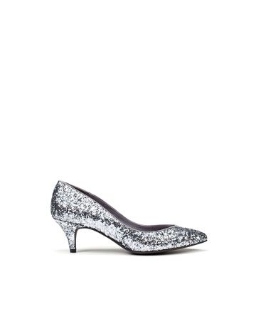 c0099c652305 short heeled silver glitter shoes for  20!!!!  Melissa Casey I wasn t even  looking for them