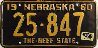 Resultado de imagen para nebraska license plates