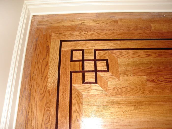 Wood floor border floors pinterest woods flooring for Hardwood floor designs borders