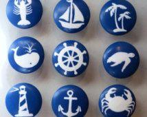 Custom Nautical Knob, Ocean Drawer Knob
