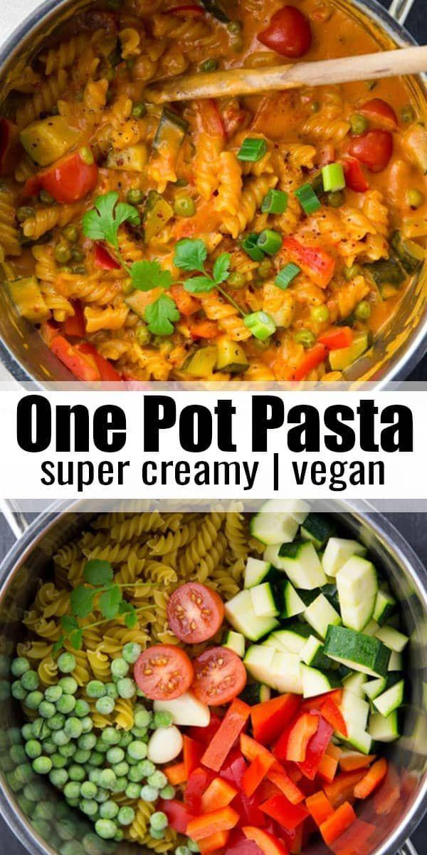 Diese vegane Eintopfnudel ist eines meiner Lieblingsrezepte für veganes Abendessen! Es ist su... #weeknightdinners