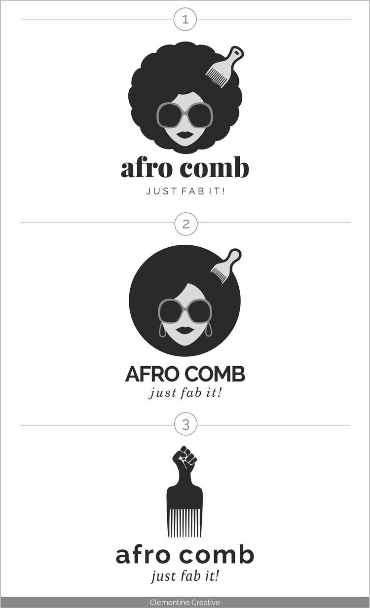 Logo Design for Afro Comb, Clothing Line Logos design