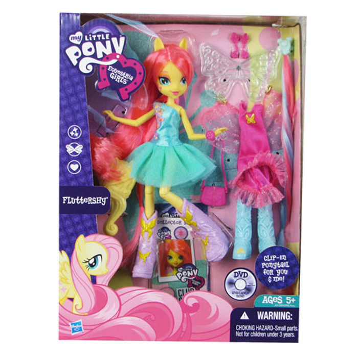 "My Little Pony Equestria Girls Fluttershy 9/"" Doll Hasbro"