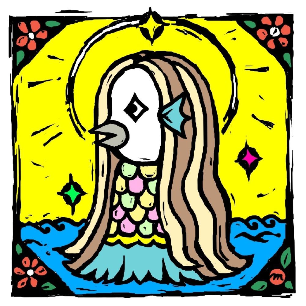 アマビエの塗り絵 Makura Note 2020 塗り絵 パターンアート イラスト 塗り絵