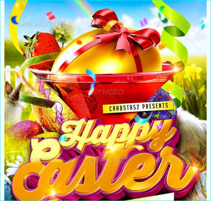 Happy Easter Flyer Template - Party Flyer Templates For Clubs - easter flyer template