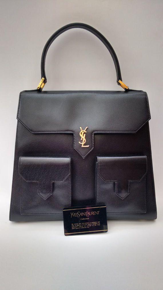 Ysl Yves Saint Laurent Vintage Black Leather By Sophiashop123 Yves Saint Laurent Vintage Yves Saint Laurent Bags Saint Laurent Bag