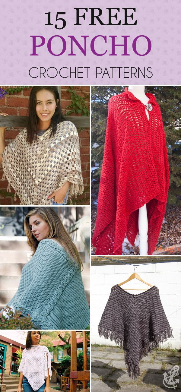 Diytotry 15 Free Poncho Crochet Patterns Youll Love Httpift