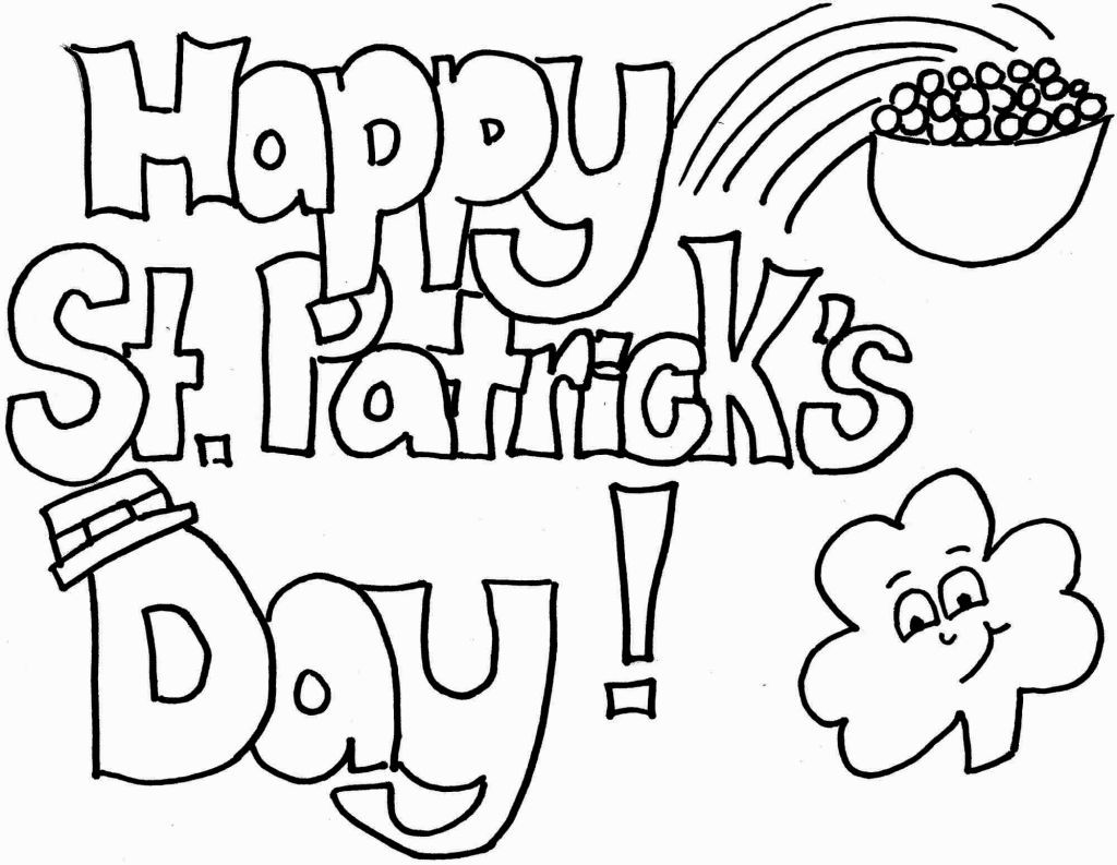 St Patricks Day Coloring Sheets St Patricks Day Pictures St