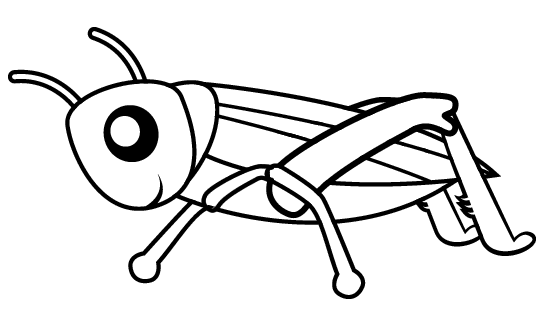Pretty Cute Grasshopper Coloring Sheet For Little Kids Coloring Pages Animal Coloring Pages Color
