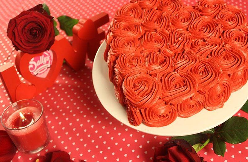 Sallys Rezepte Rosen Torte Zum Valentinstag Oder Muttertag Backen