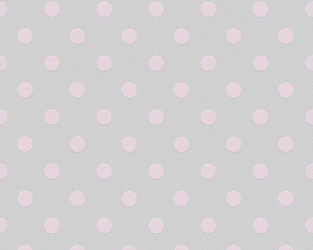 Vlies Tapete AS NAF NAF 95218-1 grau rosa Punkte gepunktet ...