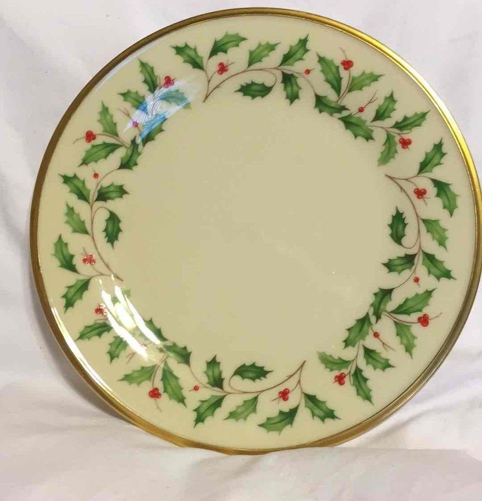LENOX Holiday CHINA Plate Salad Plate Dish Ivory Gold Gilt Rim USA 8 1/8  sc 1 st  Pinterest & LENOX Holiday CHINA Plate Salad Plate Dish Ivory Gold Gilt Rim USA 8 ...