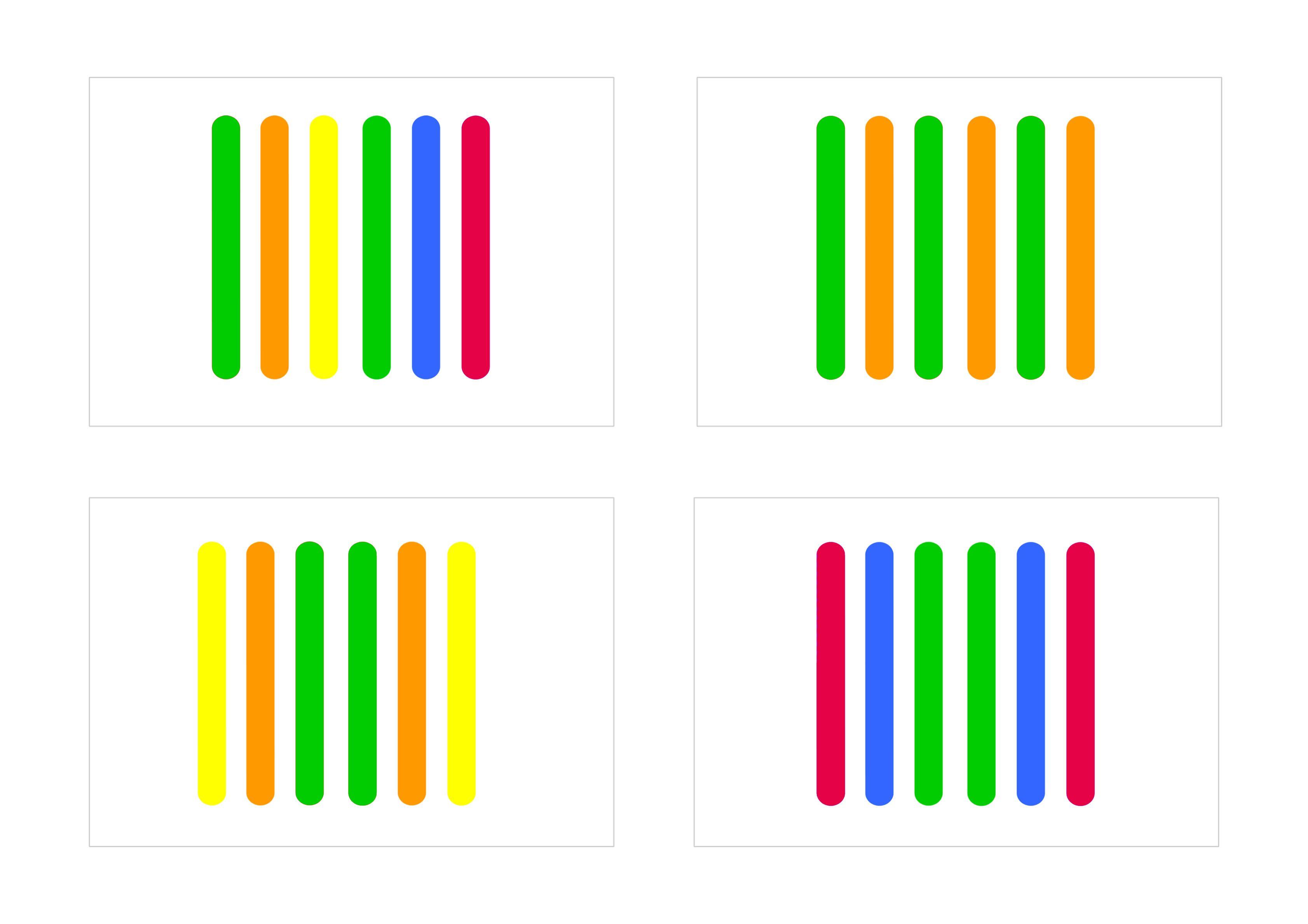 Картинки из цветных палочек