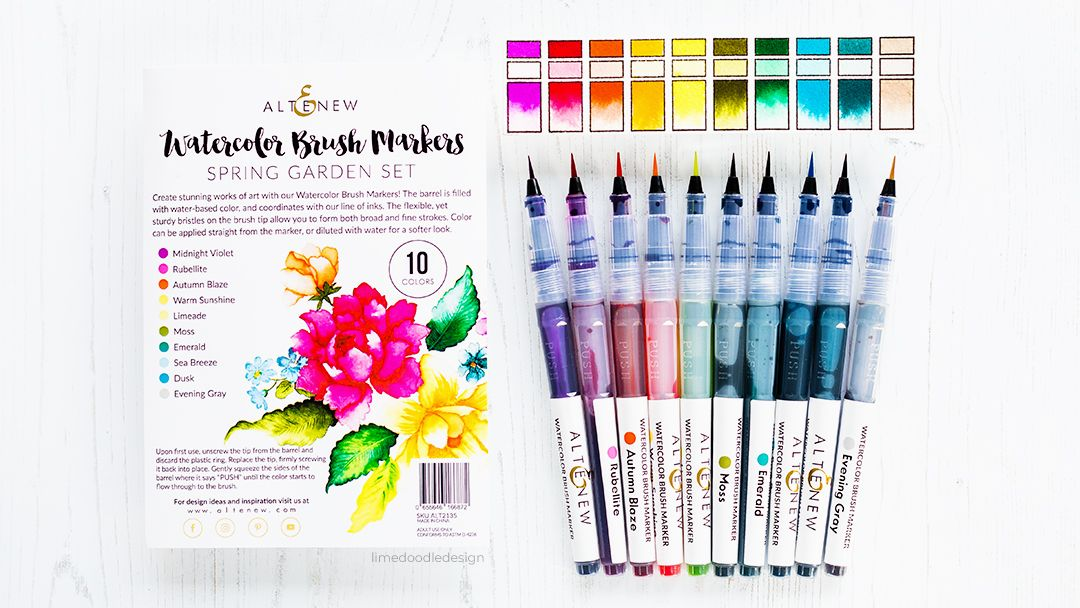 Video Altenew Watercolor Brush Markers Brush Markers