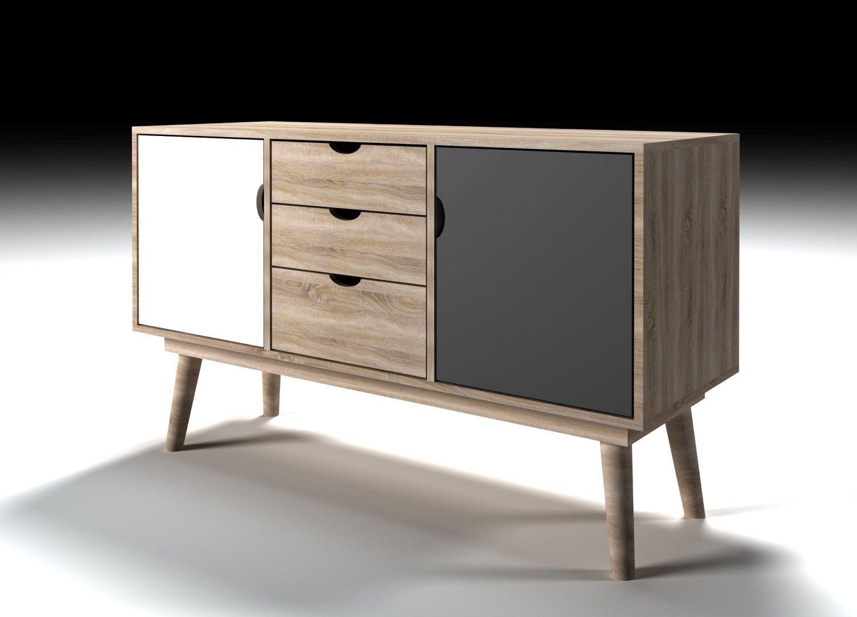 Scandi Grey Sideboard Sideboards Scandinavian Furniture Sideboard Retro Cupboards Sideboard Scandinavian