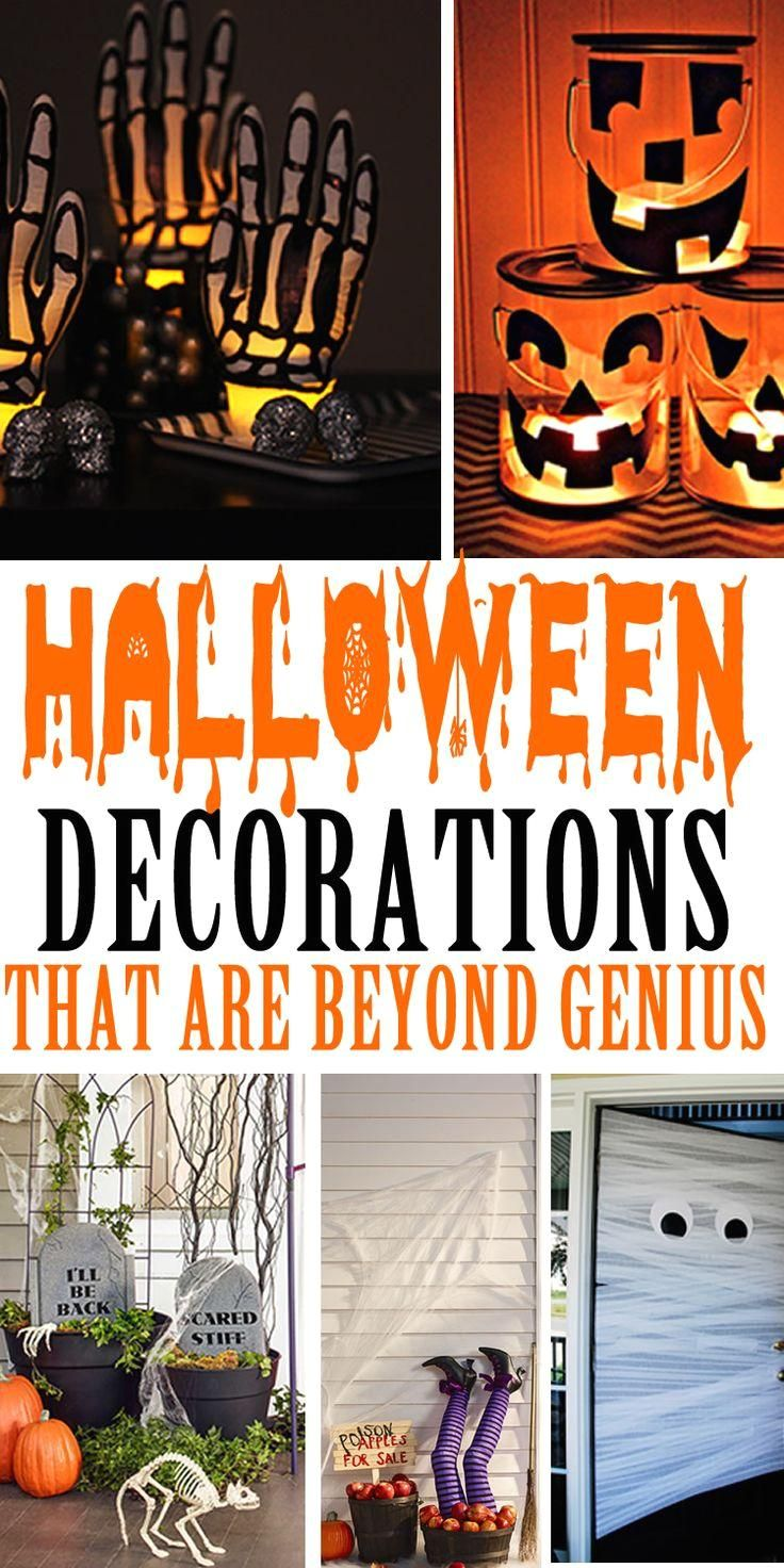 #Decorations! #Easy Halloween Decorations! Easy and Amazing decorations for Halloween. Great for indoor our outside - Halloween parties and more. DIY projects and DIY craft for Halloween.  Make your home look spooktacular this Halloween with these handmade DIY Halloween decoration craft ideas. Use these ideas for the inside of your home or outdoors. The best Halloween decoration ideas for creepy & spooky fun.