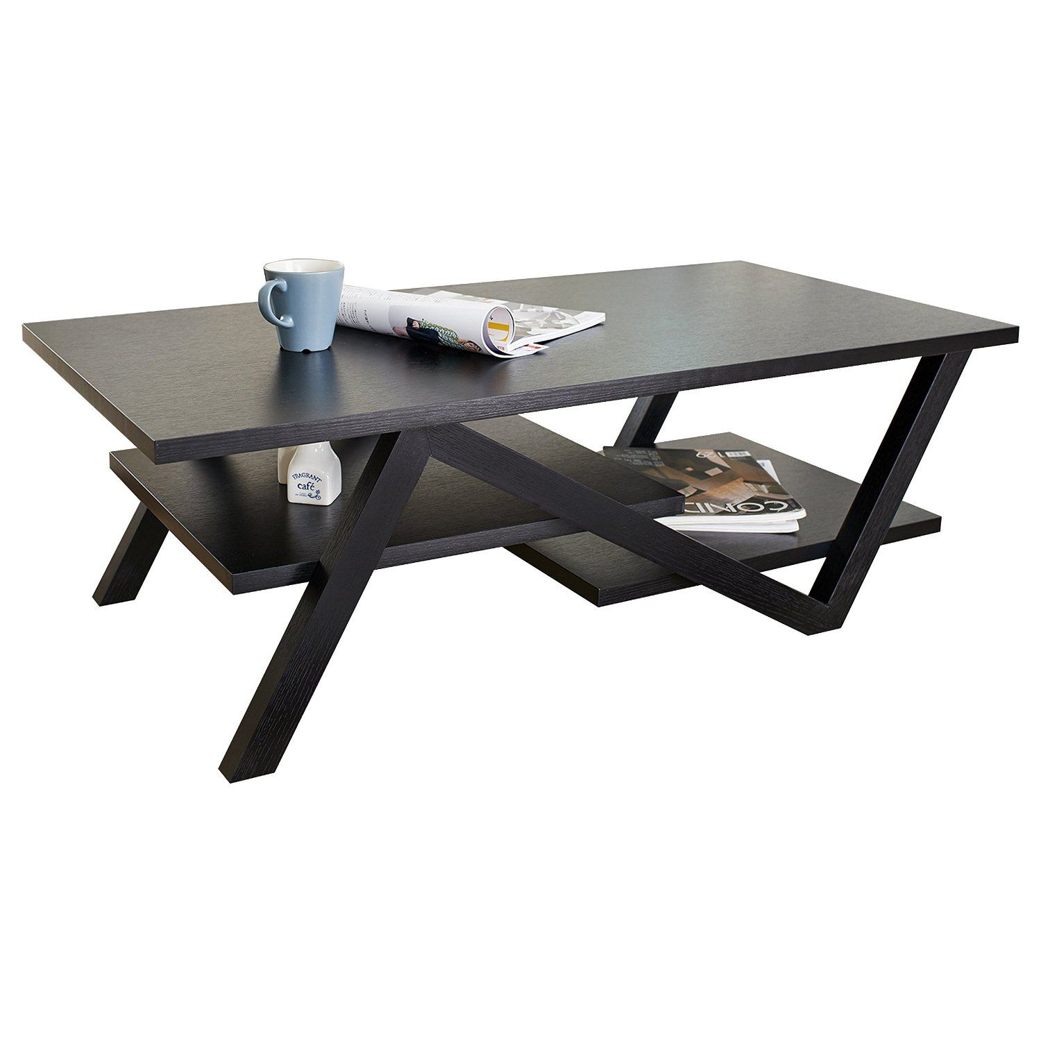 Amazon Com Iohomes Finley Rectangular Coffee Table Black Kitchen Dining Coffee Table Furniture Rectangular Coffee Table Coffee Table Frame [ 1500 x 1500 Pixel ]