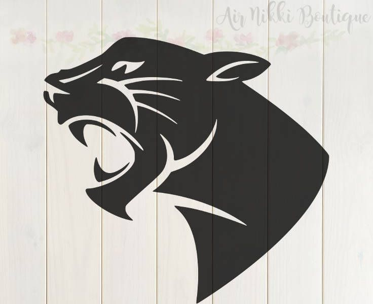 Black Panther Cat Svg Png Dxf Mirrored Png Studio 3 Etsy Panther Images Animal Silhouette Panther Tattoo