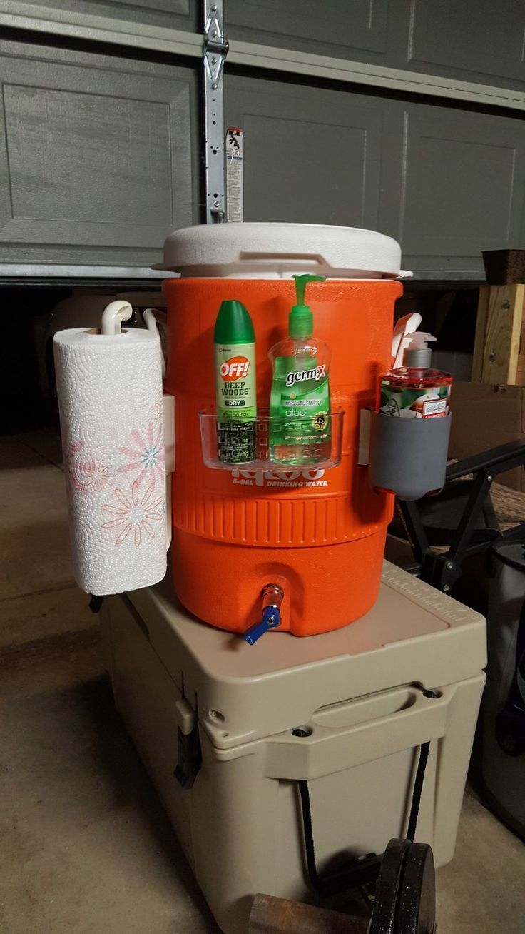 Photo of Homemade portable hand wash station. – Motorhome ideas – #hand #Home #Ideas #portabel … – Camping