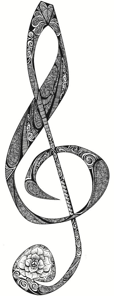 notenschlüssel  zentangle  pinterest  notenschlüssel