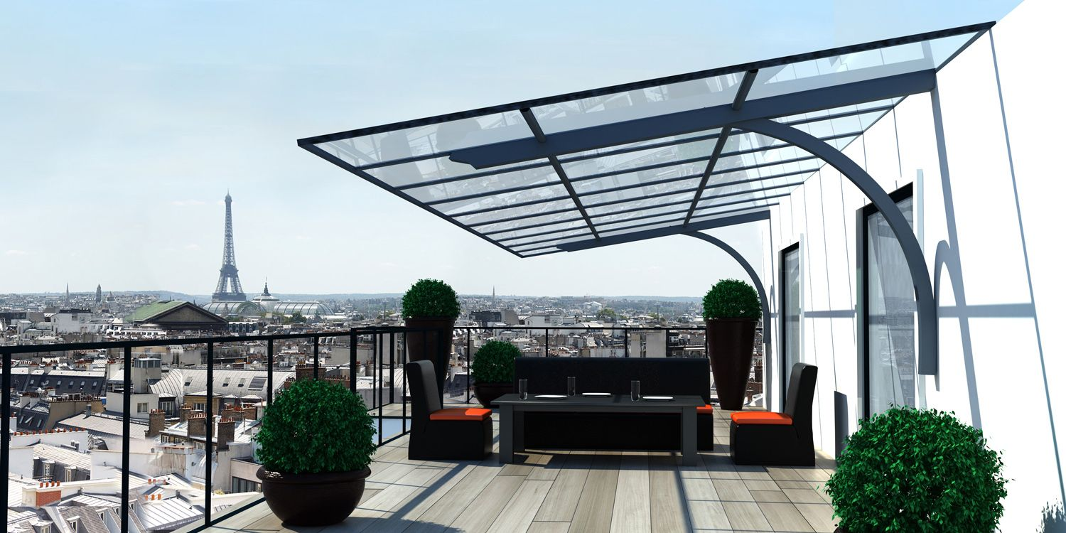 Best Modern Steel And Glass Patio Awning Canopy Pergola 640 x 480