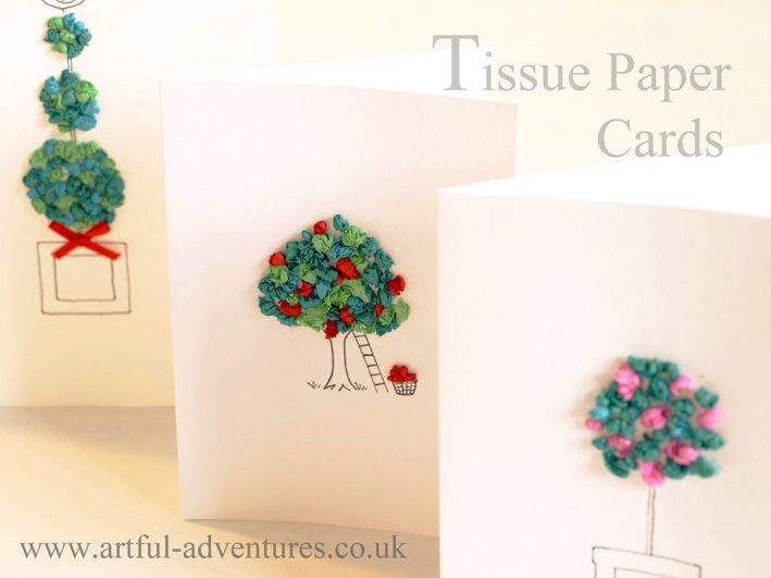 Even More Tissue Paper Cards Paper Crafts Origami Paper Cards