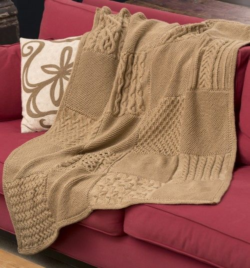 Knit Your Cables Afghan - Free Pattern | Knitting | Pinterest ...