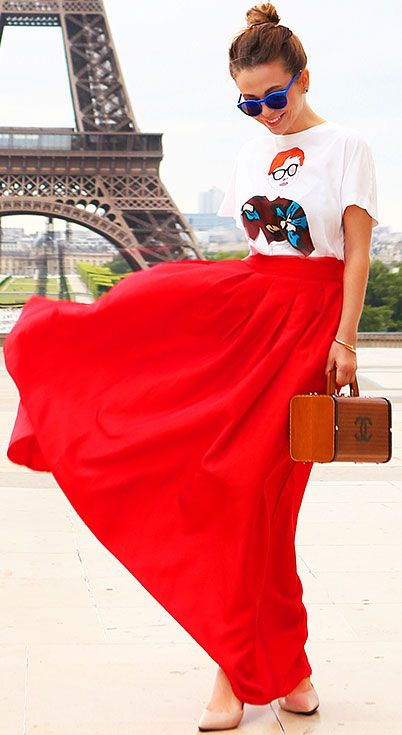 How to maxi wear skirt winter