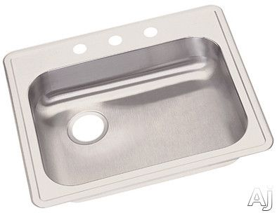 Elkay Dayton Collection Ge12521l0 25 Inch Drop In Stainless Steel Sink With 5 3 8 Inch Bowl Depth 22 Gauge And Back Left Dr Single Bowl Kitchen Sink Elkay Sink