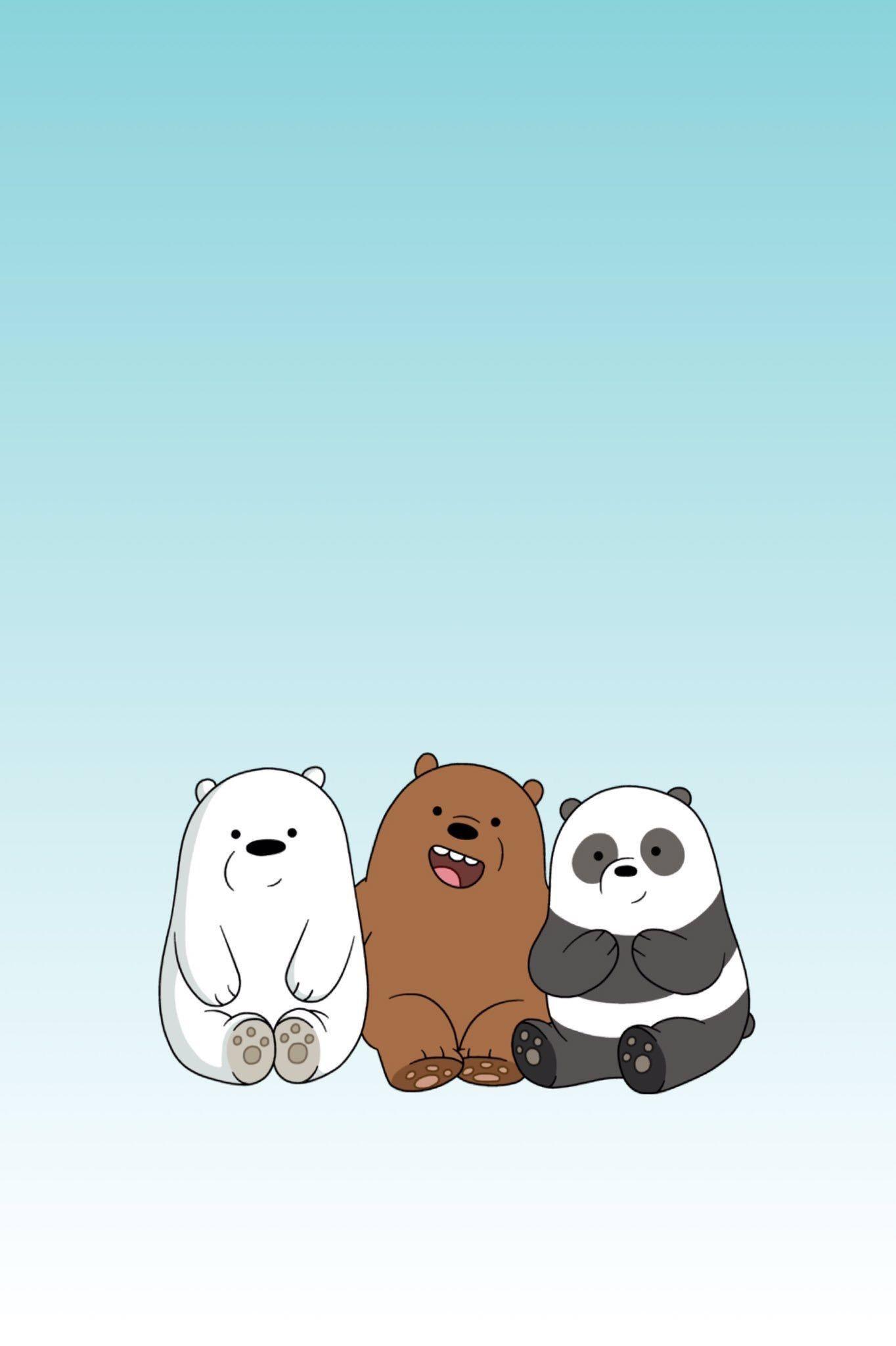 We Bare Bears Wallpaper Hd Boneka Hewan Anak Binatang Ilustrasi Karakter