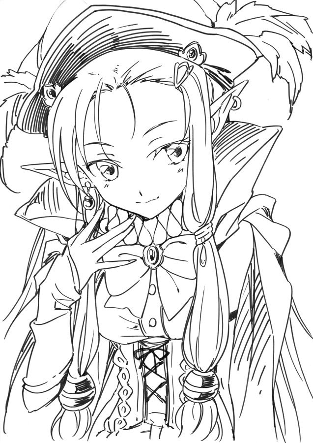Daria From Rf3 Rune Factory Colouring Pages Anime