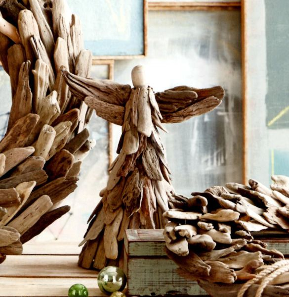 Beach Christmas Tree Topper: Driftwood Angel Tree Topper Our Standing Angel Watches