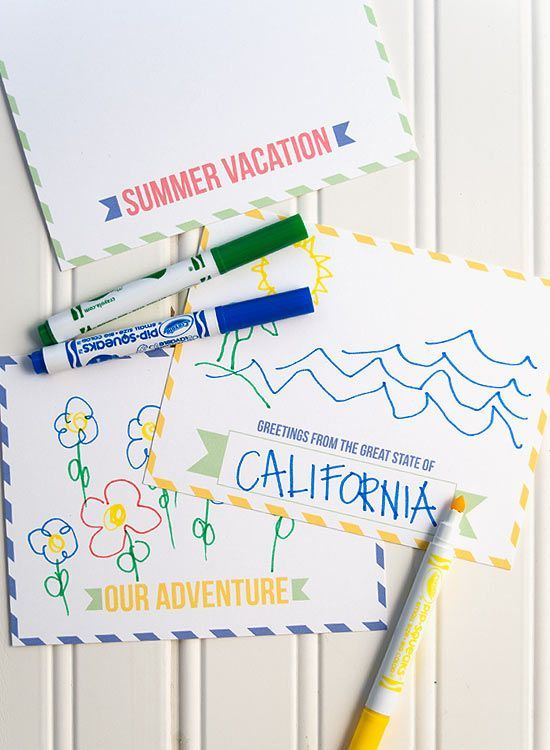 Summer Vacation Postcards   Free Printable Template Kids Can Fill Out And  Mail To Friends And