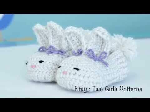 Crochet baby bunny house slippers - Crochet tips - YouTube