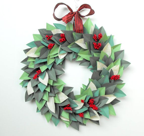 I want to make one of these -- paper leaf wreath by ...