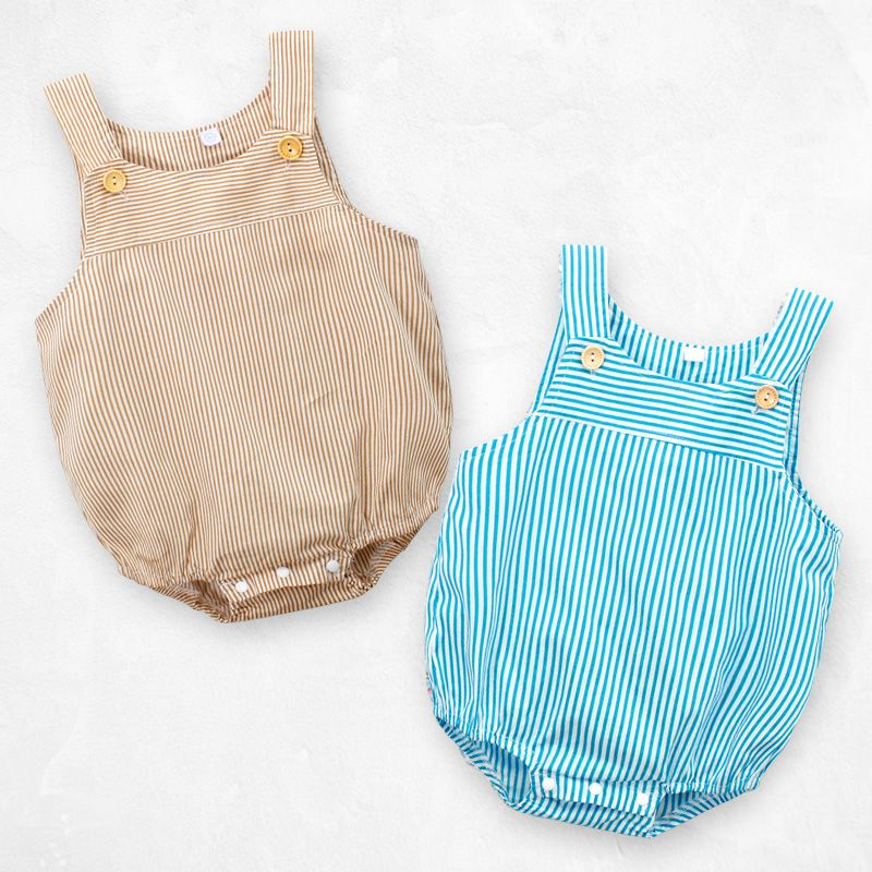 938e6956bc3a Kids Baby Sleeveless Striped Rompers 2018 Summer Newborn Infant Ruffle Romper  Sunsuit Clothes Outfits Design Jumpsuit-in Rompers from Mother   Kids on ...