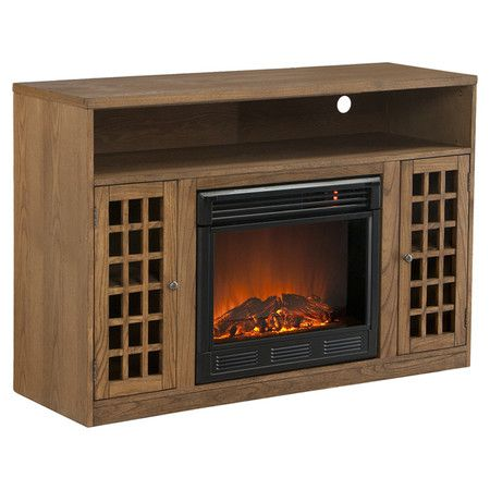 """Found it at Wayfair - Lipan 48"""" TV Stand & Electric Fireplace in Weathered Oak"""