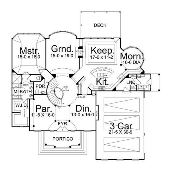 French, Colonial House Plans - Home Design Centre Street # 14294 ...