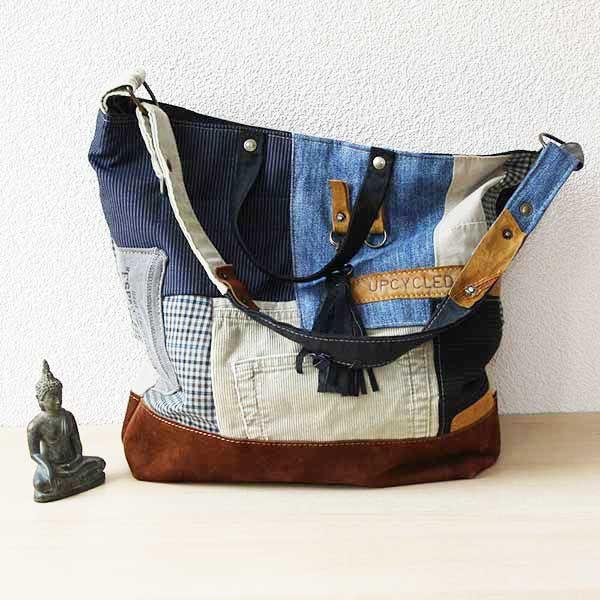 Zelfgemaakte Stoffen Tassen : Mooie handgemaakte tas gemaakt van een oude stoffen