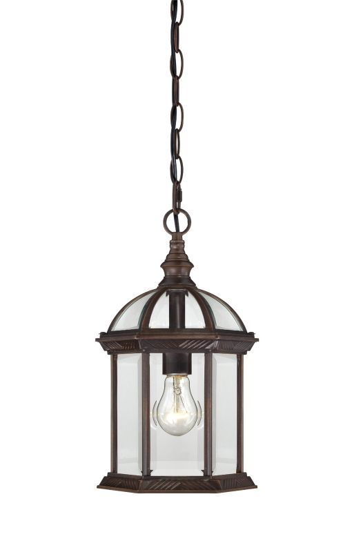 Nuvo Lighting 60 4978 Boxwood Single Light Hanging Lantern With Clear Beveled Gl Rustic