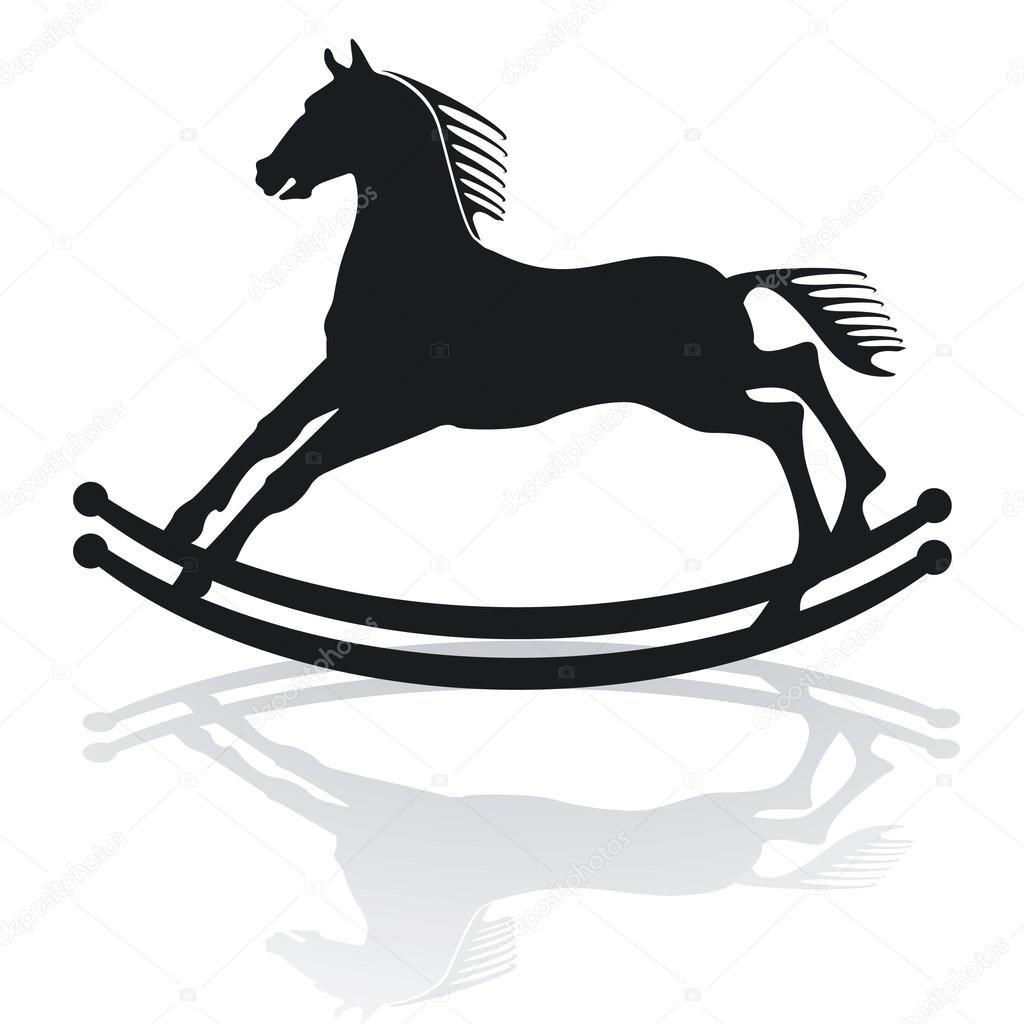Kon Na Biegunach Ilustracja Stockowa Rocking Horse Illustration Stock Illustration