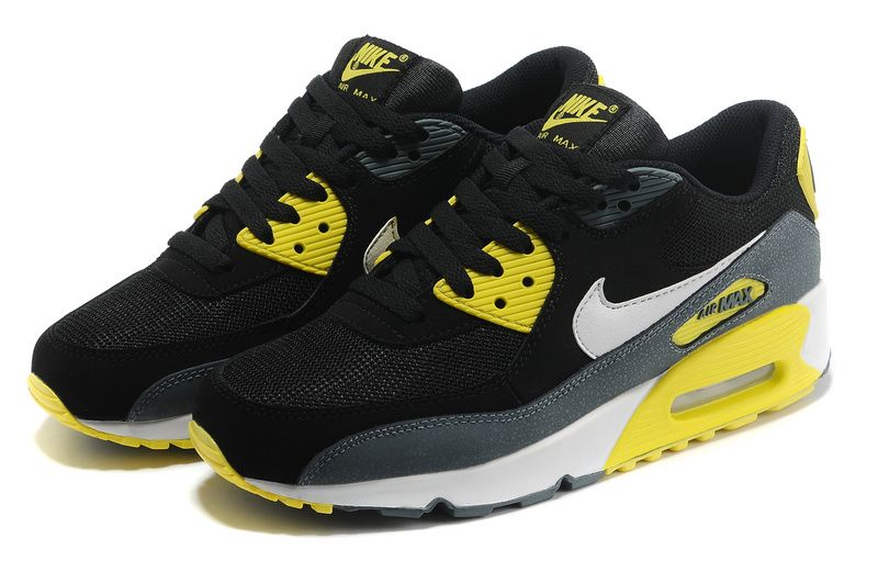 check out c282a 67ba1 nike air max 90 black and yellow