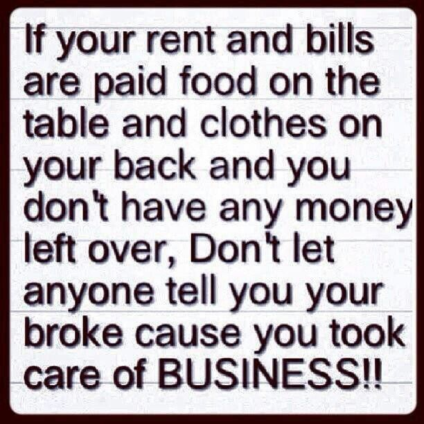 Take care of biz first!