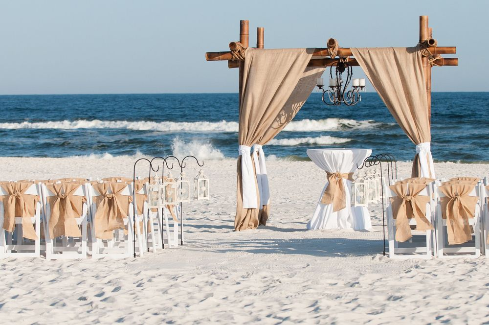 Beach Wedding Setup By Ido Gulf Coast Weddings