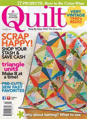 Quilt Magazine August/September 2013