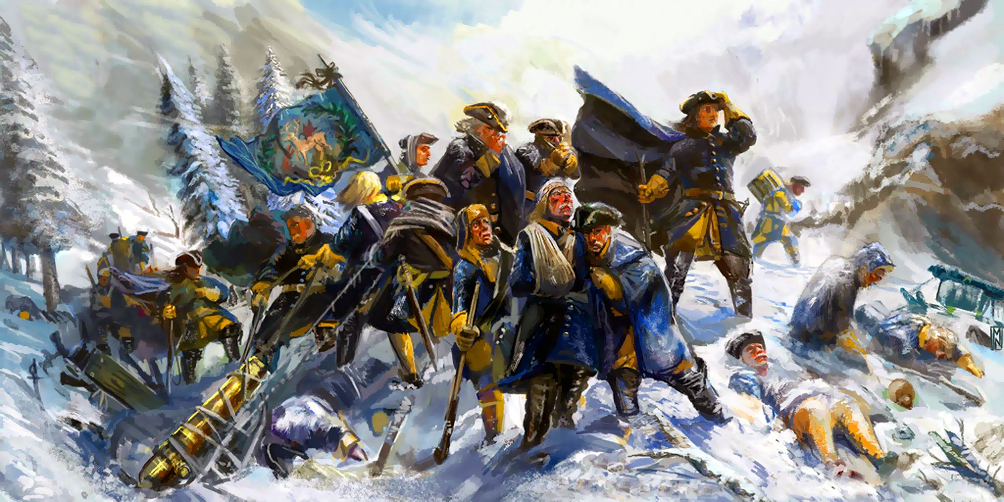 One of the many works I created as part of the Great Northern War  Compendium. This is of the Carolean Death March as the retreating Swedish  ar.