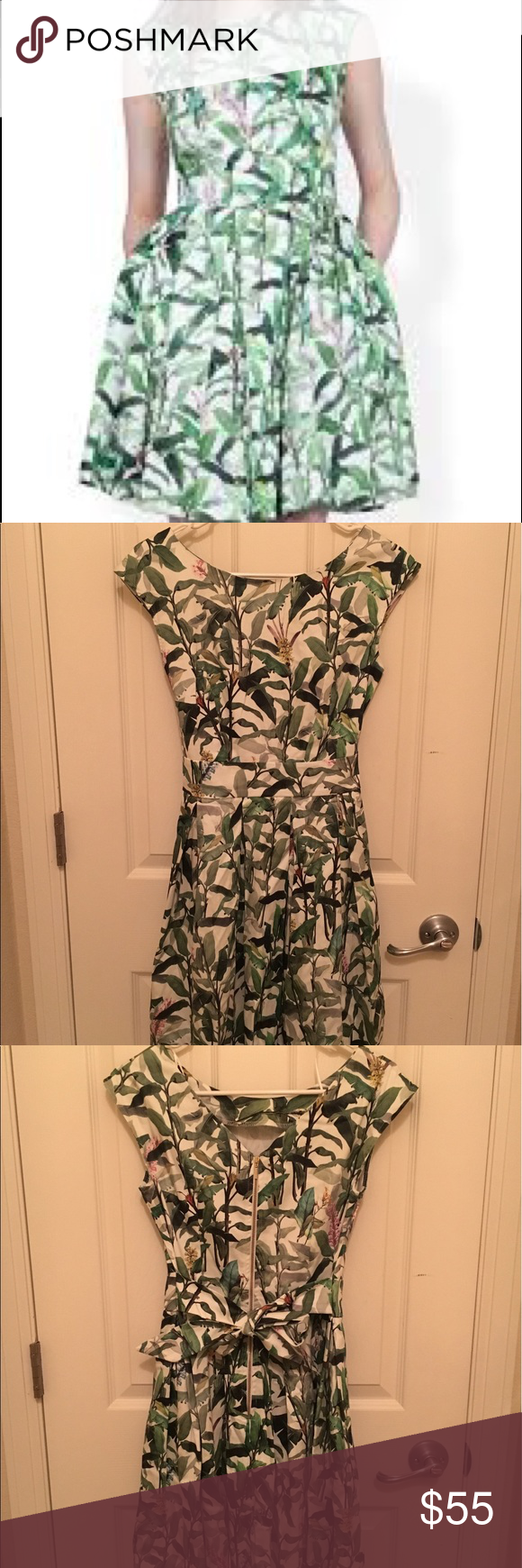 Closet London Leaves Dress Like new condition, only worn