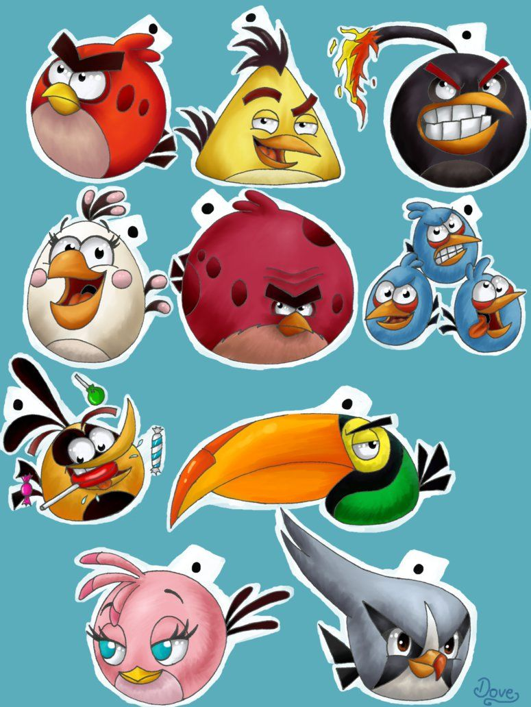 how to draw all angry birds