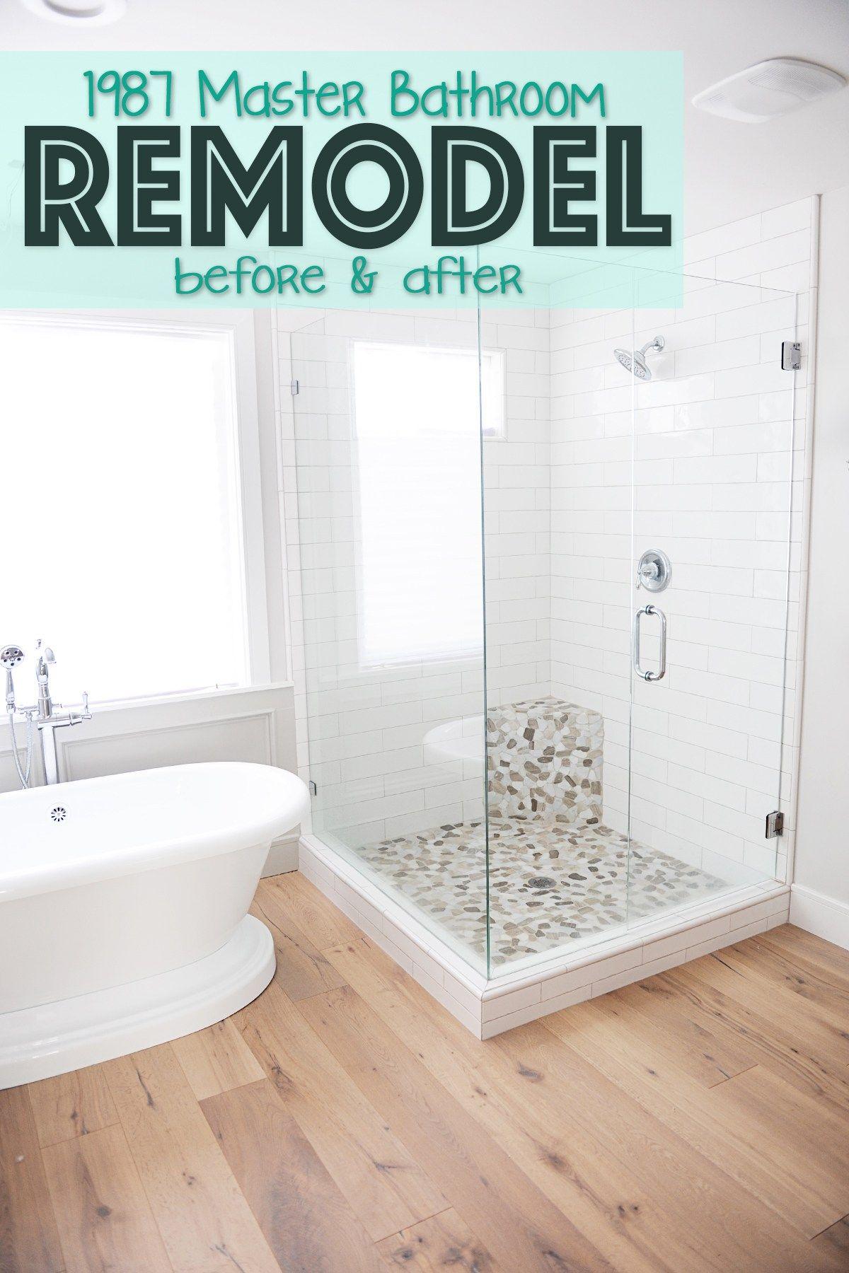 Master Bathroom Remodel Renovation Idea Before And After In 2020 Bathrooms Remodel Bathroom Remodel Master Bathroom Renovations